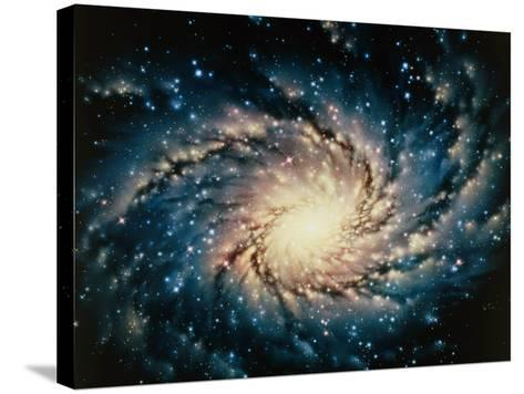 Artwork of the Milky Way, Our Galaxy-Joe Tucciarone-Stretched Canvas Print