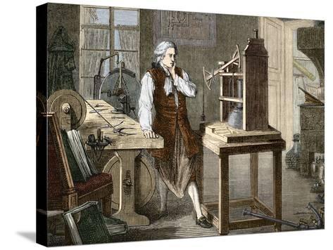 James Watt (1736-1819)--Stretched Canvas Print