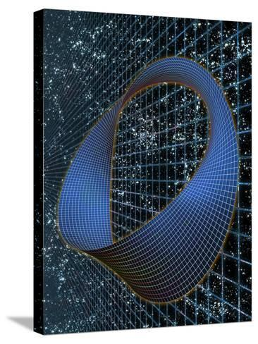 Curved Space-time--Stretched Canvas Print