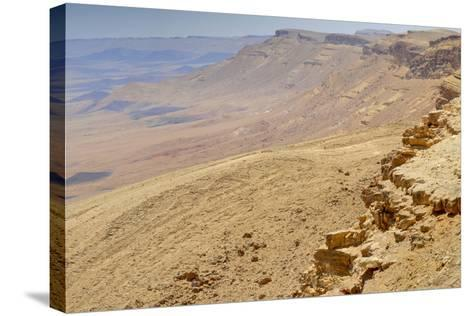 Ramon Crater, Negev In Israel--Stretched Canvas Print