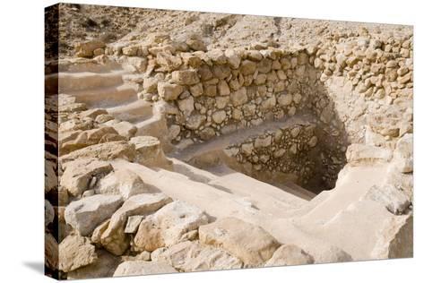 Ancient Ritual Bath In Qumran--Stretched Canvas Print