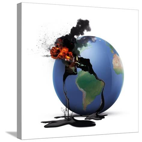 Oil Disaster, Conceptual Image--Stretched Canvas Print