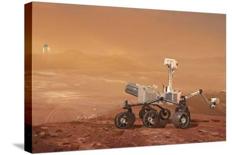 Curiosity Rover on Mars, Artwork--Stretched Canvas Print
