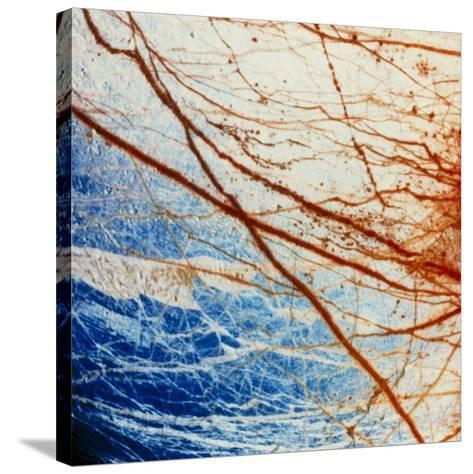 Galileo Spacecraft Image of Europa's Surface--Stretched Canvas Print