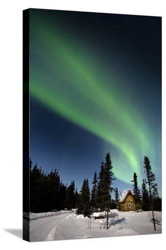 Aurora Borealis In Alaska-Chris Madeley-Stretched Canvas Print