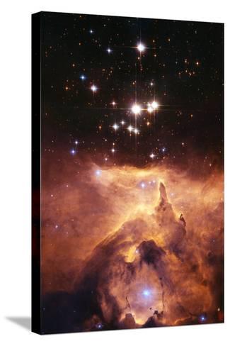 Star Cluster Pismis 24 Above NGC 6357-J. Maiz-Stretched Canvas Print