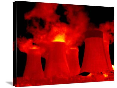 Cooling Towers, Thermogram-Tony McConnell-Stretched Canvas Print