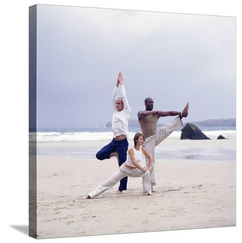 Capoeira And Yoga-Tony McConnell-Stretched Canvas Print