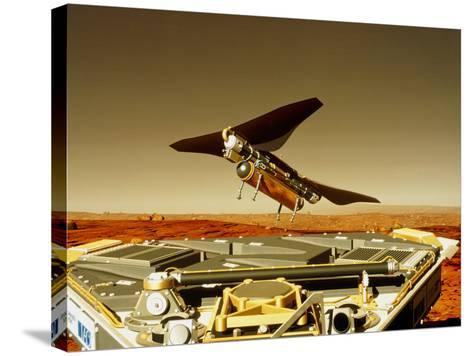 Flying Insect Robot And Refueller-Rob Michelson-Stretched Canvas Print