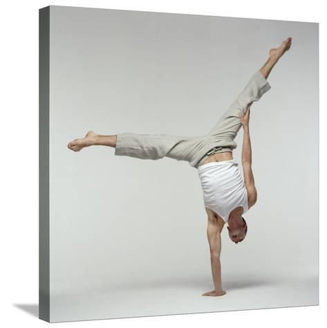 Yoga Pose-Tony McConnell-Stretched Canvas Print