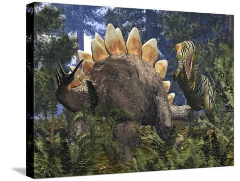 Jurassic Dinosaurs, Artwork-Walter Myers-Stretched Canvas Print