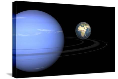 Neptune And Earth, Artwork-Walter Myers-Stretched Canvas Print