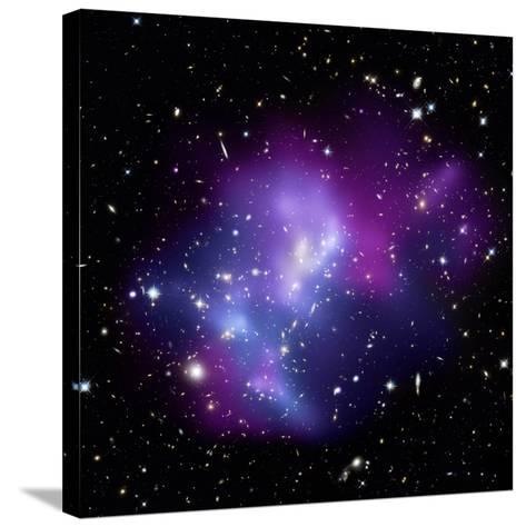 Galaxy Cluster MACS J0717--Stretched Canvas Print