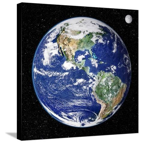 Earth From Space, Satellite Image--Stretched Canvas Print