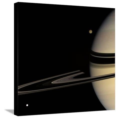 Saturn, Cassini Image--Stretched Canvas Print