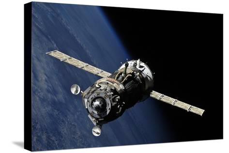 Soyuz TMA-19 Departing the ISS, 2010--Stretched Canvas Print