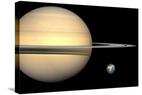 Saturn And Earth, Artwork-Walter Myers-Stretched Canvas Print