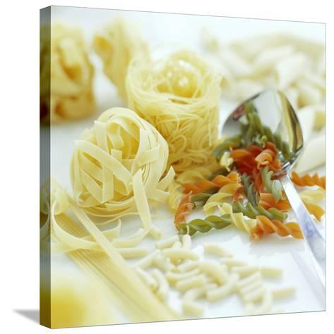 Assorted Pasta-David Munns-Stretched Canvas Print