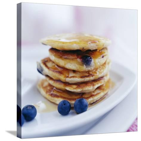 Blueberry Pancakes-David Munns-Stretched Canvas Print