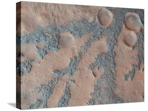 Antoniadi Crater, Mars, Satellite Image--Stretched Canvas Print