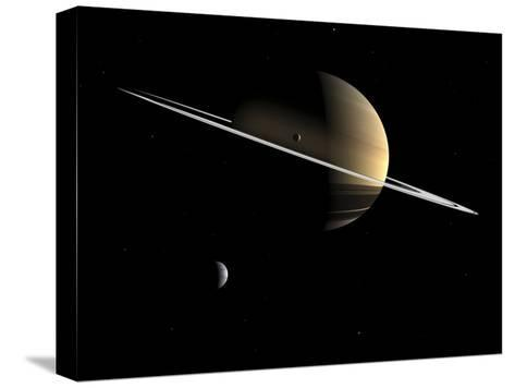 Saturn, Artwork-Walter Myers-Stretched Canvas Print