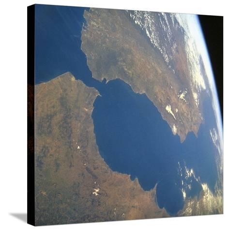 Strait of Gibraltar, Satellite Image--Stretched Canvas Print