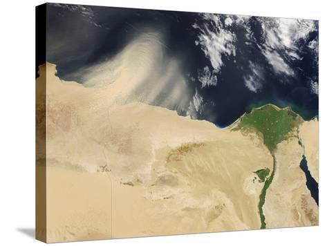 Sandstorm, Satellite Image--Stretched Canvas Print