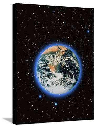 Whole Earth & Stars--Stretched Canvas Print