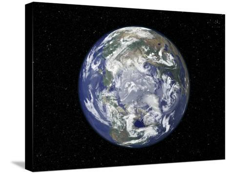 The Arctic, Satellite Image--Stretched Canvas Print