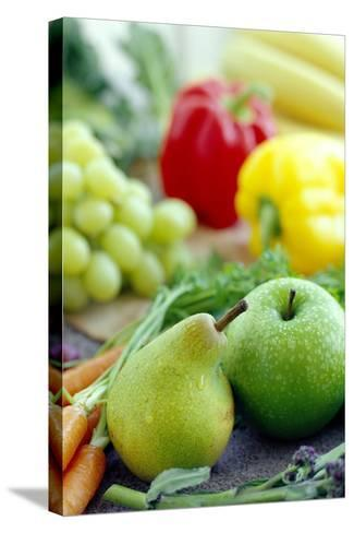 Fruits And Vegetables-David Munns-Stretched Canvas Print