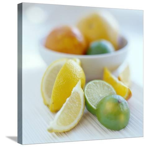 Citrus Fruits-David Munns-Stretched Canvas Print