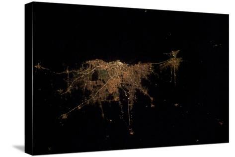 City Lights of Buenos Aires, Argentina--Stretched Canvas Print