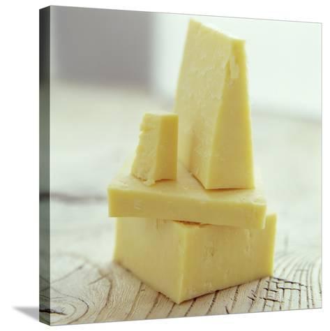Cheddar Cheese-David Munns-Stretched Canvas Print