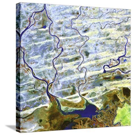 Saharan Desert Rivers, Satellite Image--Stretched Canvas Print