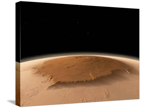 Olympus Mons, Mars, Artwork-Walter Myers-Stretched Canvas Print