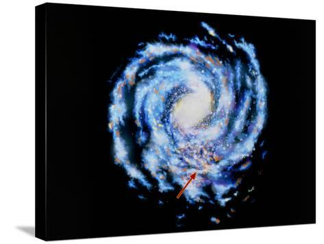 Artwork Showing Our Galaxy the Milky Way-J. Baum and N. Henbest-Stretched Canvas Print