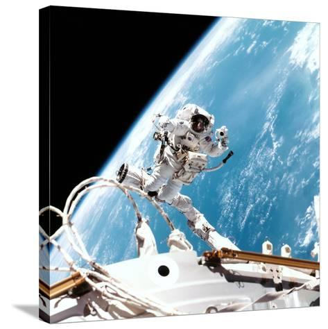 ISS Space Walk--Stretched Canvas Print