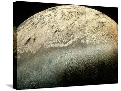 Voyager 2 Photomosaic of Neptune's Moon Triton--Stretched Canvas Print