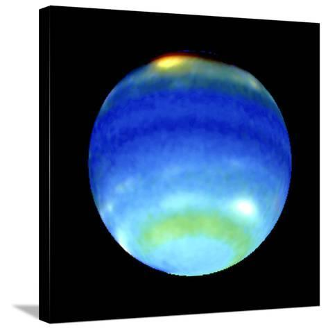 Planet Neptune, Showing Weather Patterns--Stretched Canvas Print