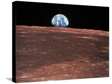 Earth Rising--Stretched Canvas Print