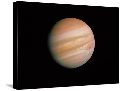 Voyager 1 Photo of Jupiter--Stretched Canvas Print