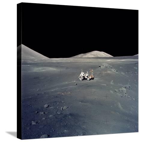 Apollo 17 Astronauts--Stretched Canvas Print