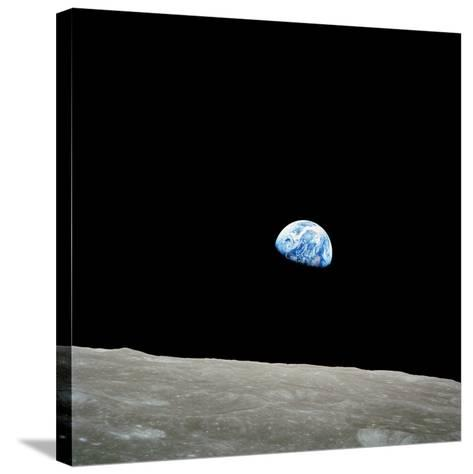 Earthrise Over Moon, Apollo 8--Stretched Canvas Print
