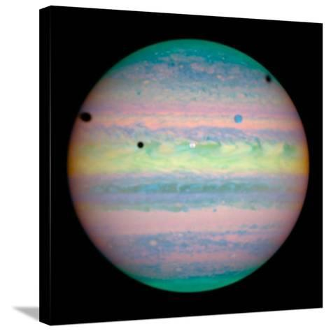 Jupiter with Moons And Their Shadows--Stretched Canvas Print