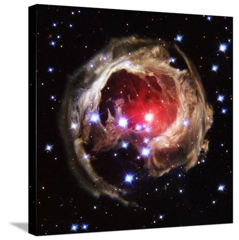 Light Echoes From Exploding Star--Stretched Canvas Print