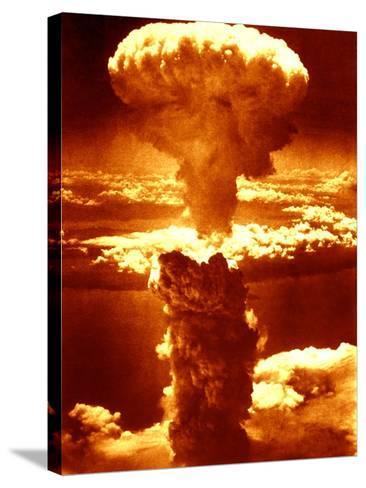 Atomic Burst Over Nagasaki, 1945-us National Archives-Stretched Canvas Print
