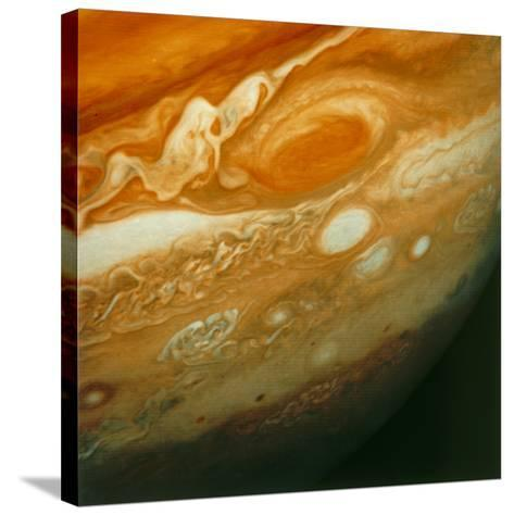 Voyager 1 View of Jupiter's Great Red Spot--Stretched Canvas Print