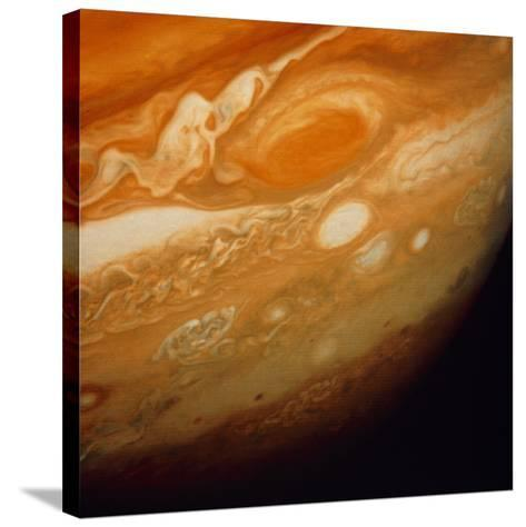 Voyager 1 Image of the Planet Jupiter--Stretched Canvas Print