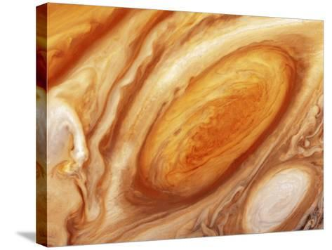 Jupiter's Great Red Spot--Stretched Canvas Print