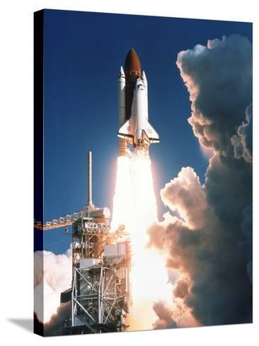 Space Shuttle Launch--Stretched Canvas Print